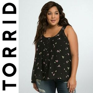 🆕 Torrid Semi Sheer Plus Size Hummingbird Tank